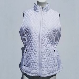 Relativity | White Quilted Vest Top size L Large